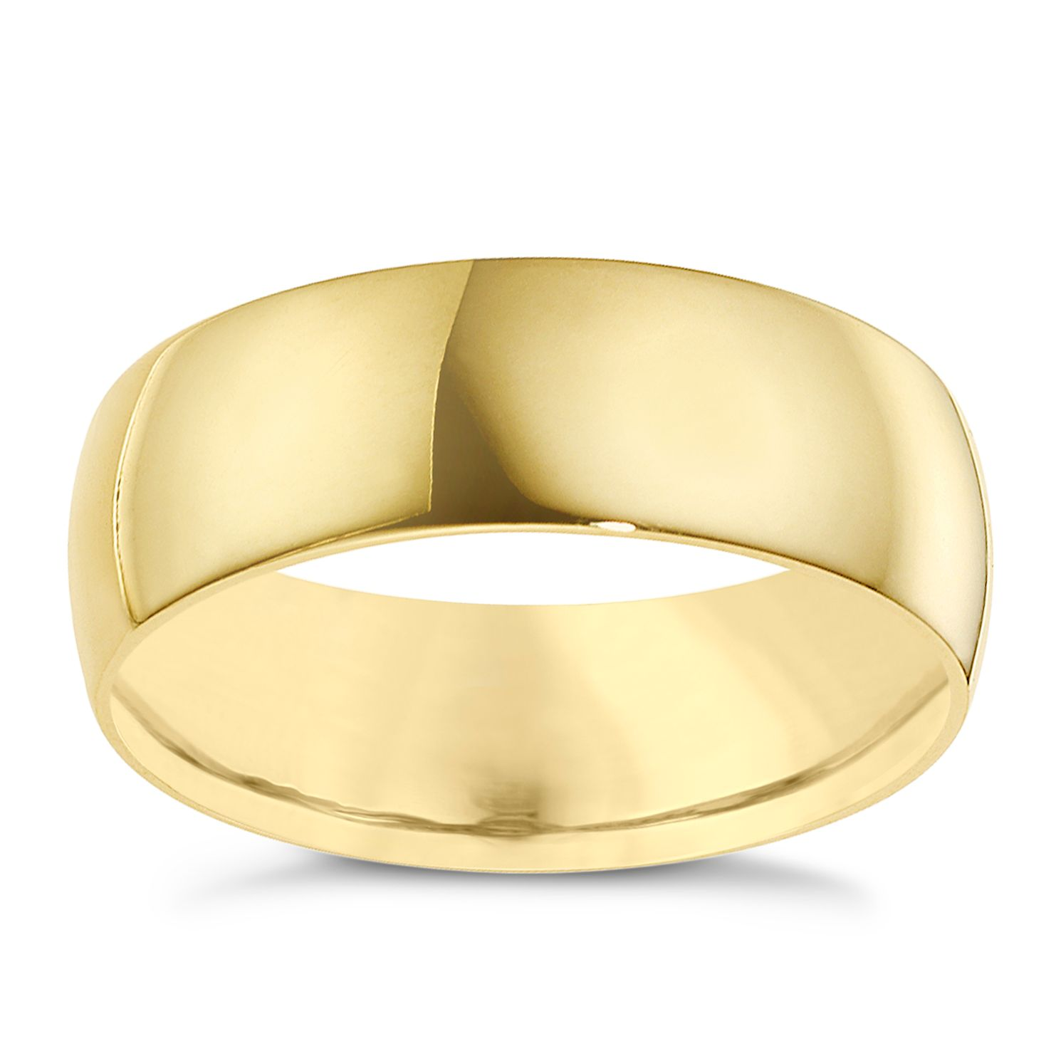 9ct Yellow Gold 8mm Extra Heavyweight Court Ring - Product number 8611475