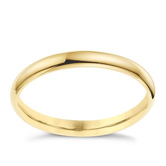 9ct yellow gold 2mm extra heavyweight court ring - Product number 8612277