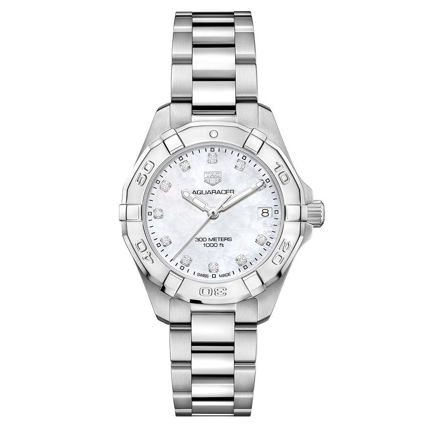 TAG Heuer Aquaracer Diamond Stainless Steel Bracelet Watch - Product number 8617295