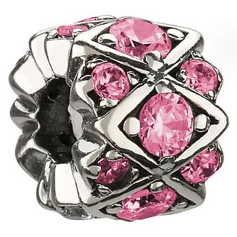 Chamilia sterling silver & pink crystal bead - Product number 8642524