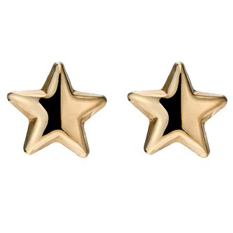 9ct Yellow Gold Star Stud Earrings - Product number 8643873