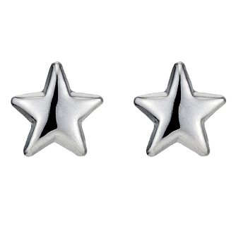 9ct White Gold Star Stud Earrings - Product number 8644306