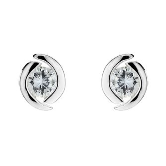 bd22b0cff Silver Cubic Zirconia Round Stud Earrings - Product number 8648182
