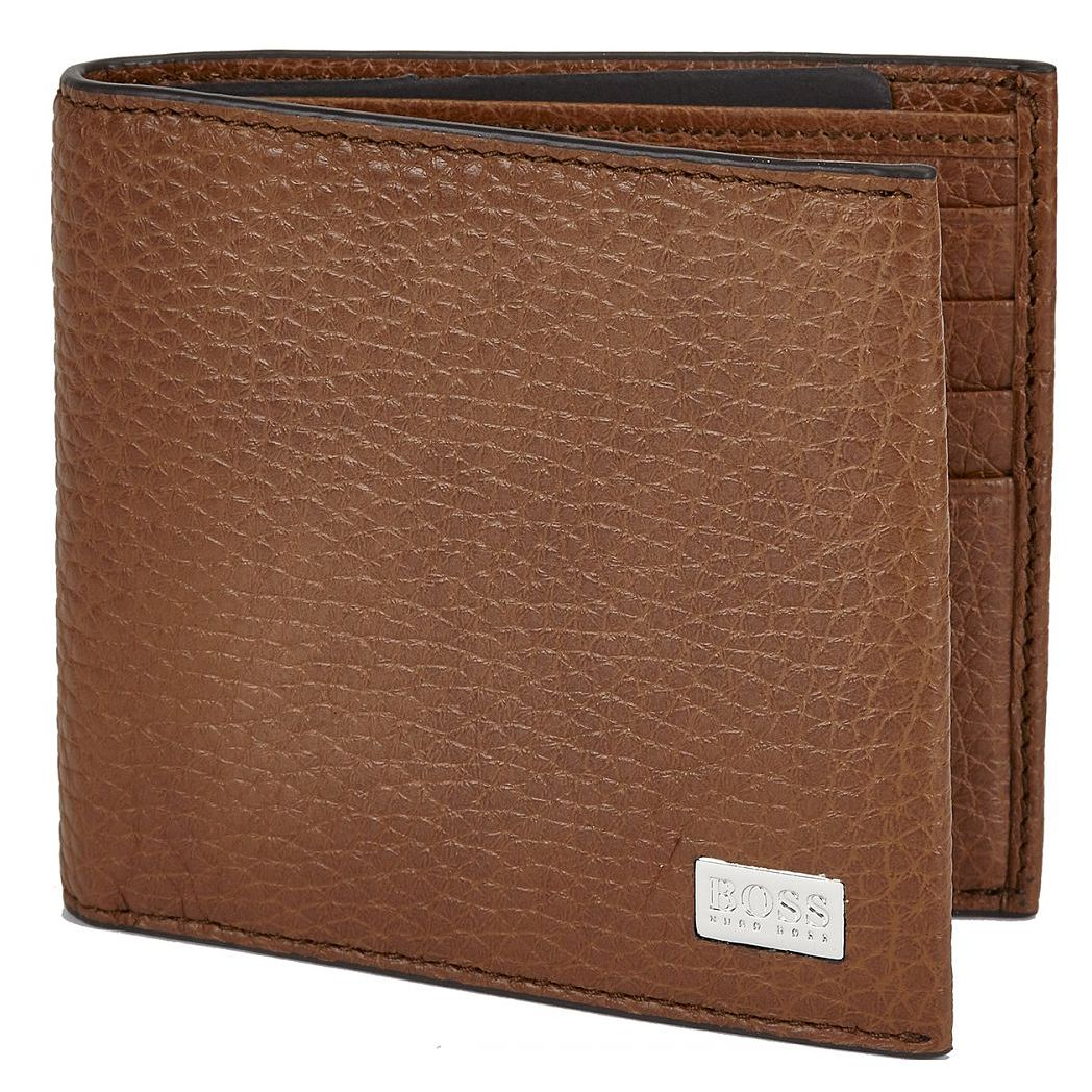 BOSS Crosstown Men's Tan Leather Wallet - Product number 8648247