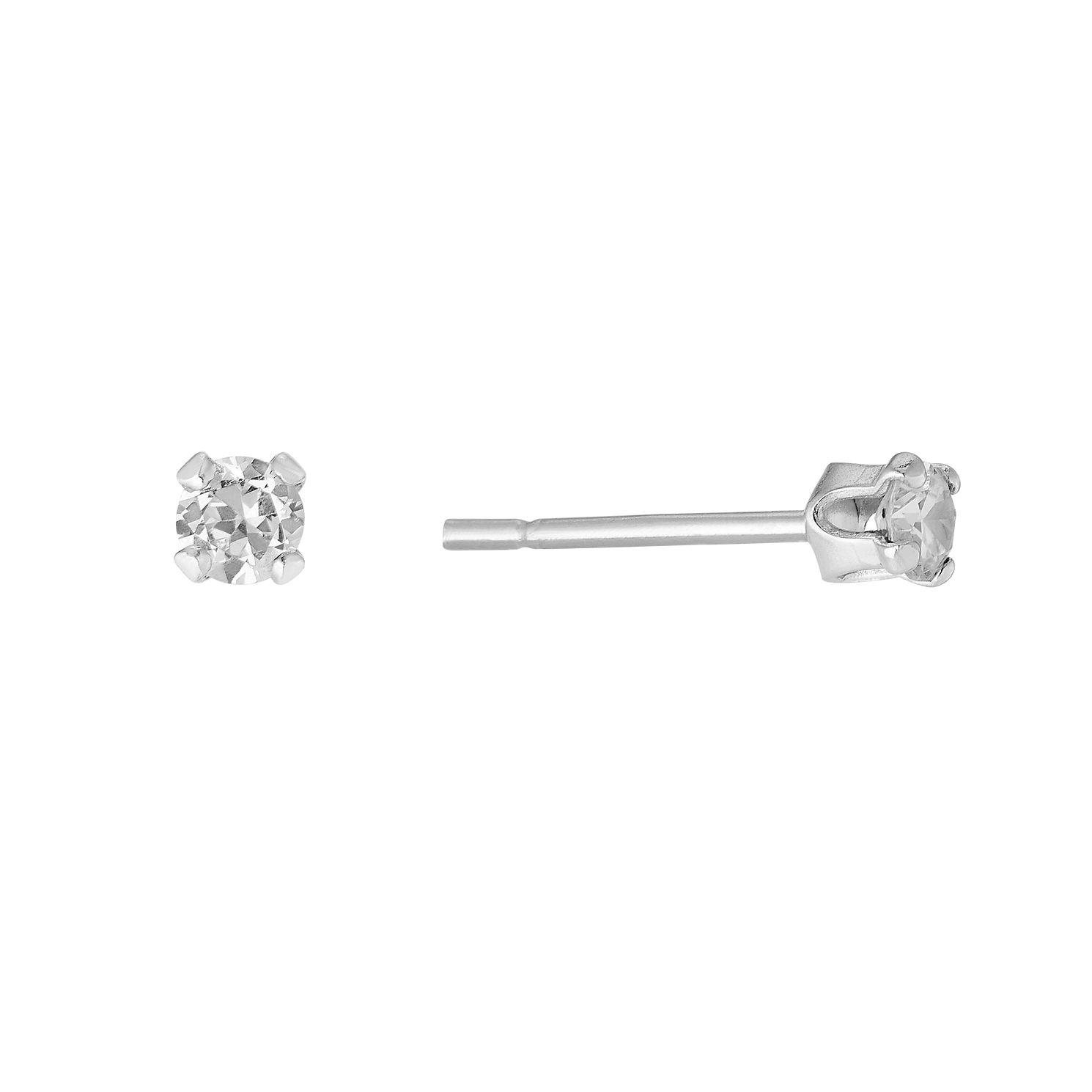 Sterling Silver Cubic Zirconia 3mm Stud Earrings - Product number 8648328