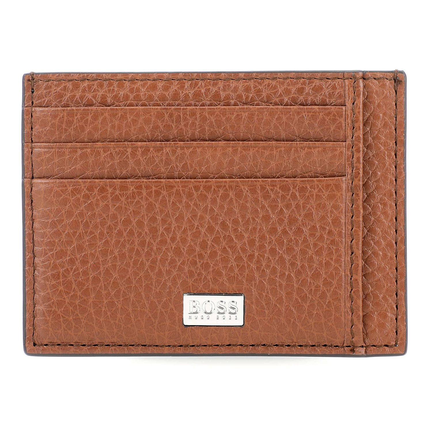 BOSS Crosstown Men's Tan Leather Cardholder - Product number 8648646