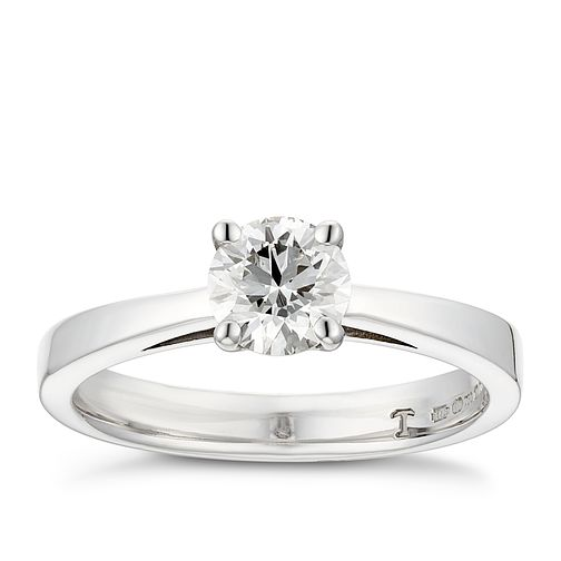 Tolkowsky 18ct white gold 2/3ct HI-VS2 diamond ring - Product number 8658013