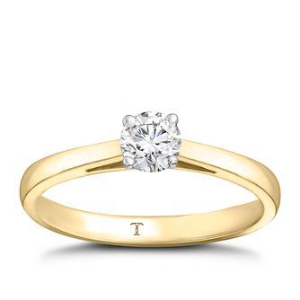Tolkowsky 18ct Yellow Gold 1/3ct Hi-Vs2 Diamond Ring - Product number 8658552