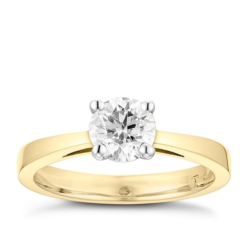 Tolkowsky 18ct yellow gold 1ct HI-VS2 diamond ring - Product number 8659087