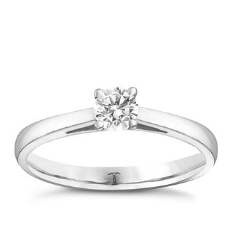 Tolkowsky platinum 1/4ct HI-VS2 diamond ring - Product number 8659214