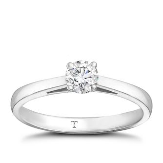 Tolkowsky platinum 1/3ct HI-VS2 diamond ring - Product number 8659389
