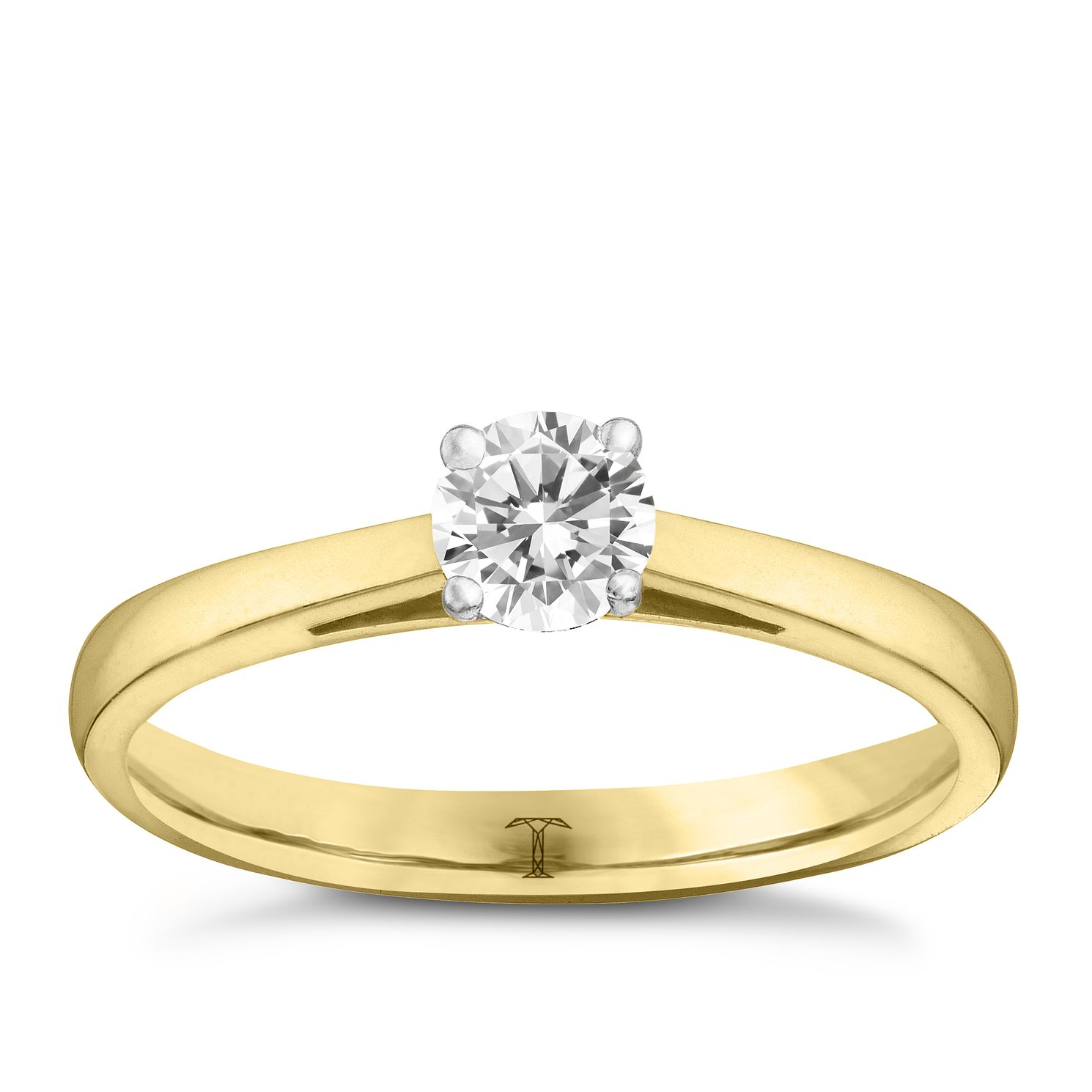 Tolkowsky 18ct Yellow Gold 1/3ct I-I1 Diamond Ring - Product number 8660980