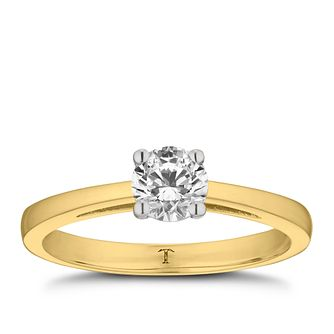 Tolkowsky 18ct yellow gold 1/2ct I-I1 diamond ring - Product number 8661138