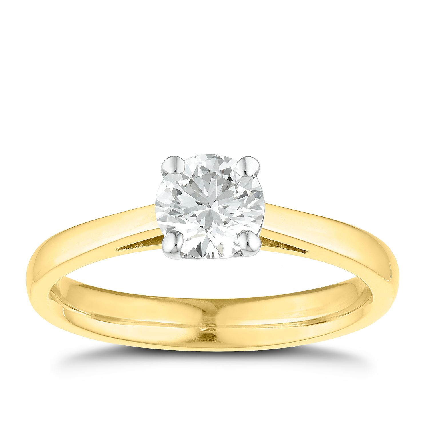 Tolkowsky 18ct Yellow Gold 3/4ct I-I1 Diamond Ring - Product number 8661391