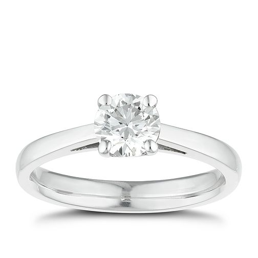 Tolkowsky platinum 3/4ct I-I1 diamond ring - Product number 8662215