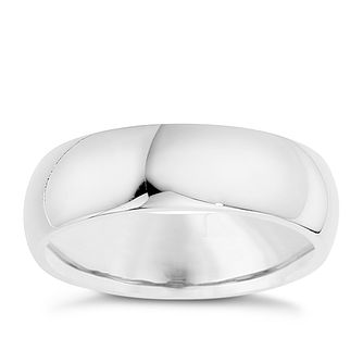 6218506904a Silver 7mm Super Heavy Court Ring - Product number 8676488