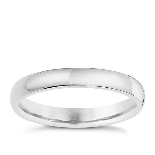 Silver 3mm Super Heavy Court Ring - Product number 8676828