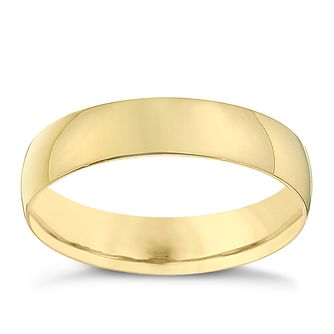 18ct Yellow Gold 4mm Heavy D Shape Ring - Product number 8677913