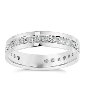9ct White Gold 0.50ct Diamond Eternity Ring - Product number 8682577