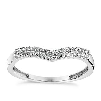9ct White Gold Shaped 0.15ct Diamond Ring - Product number 8684960