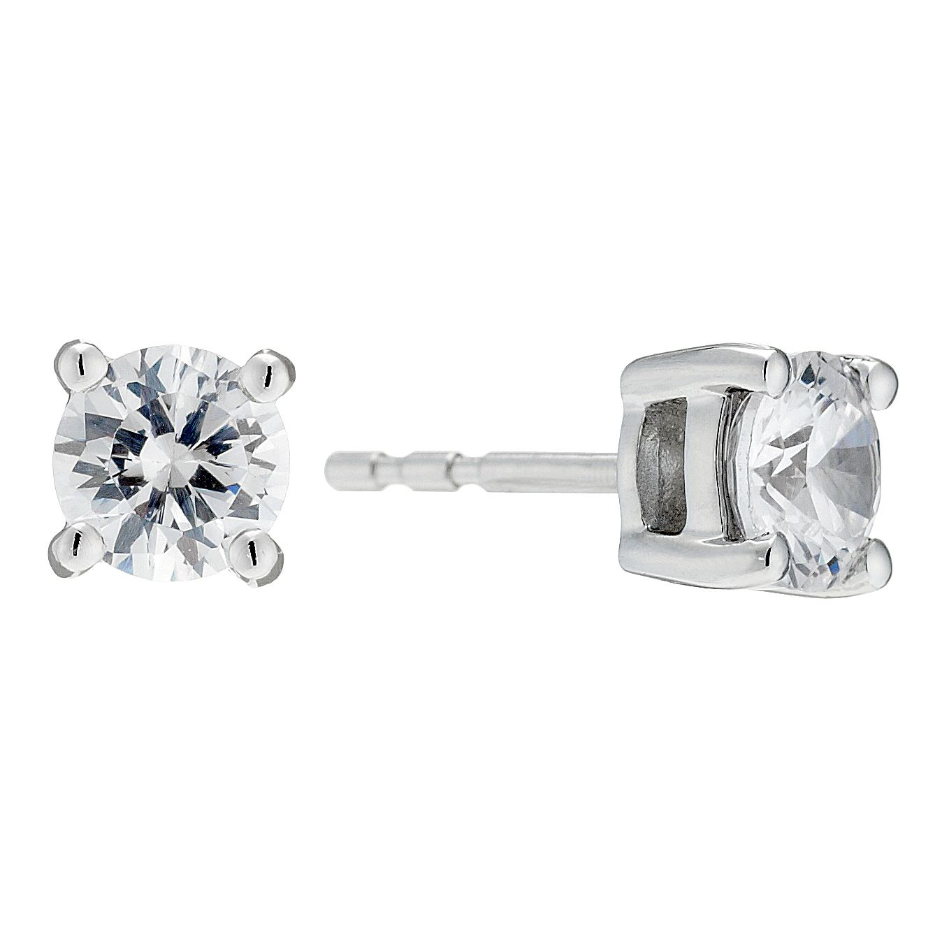 18ct White Gold 1.25 Carat Diamond Stud Earrings - Product number 8691711