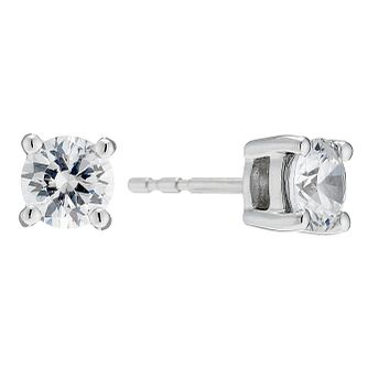 18ct White Gold 1.25ct Diamond Solitaire Stud Earrings - Product number 8691711