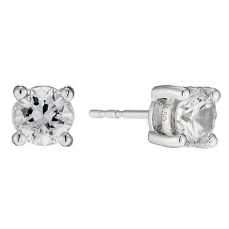 18ct White Gold 1.5ct Diamond Solitaire Stud Earrings - Product number 8691762