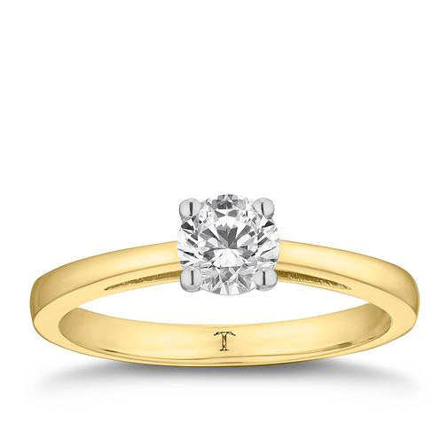 Tolkowsky 18ct yellow gold 2/3ct HI-SI2 diamond ring - Product number 8698813