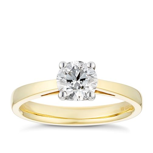 Tolkowsky 18ct yellow gold 3/4ct HI-SI2 diamond ring - Product number 8698953