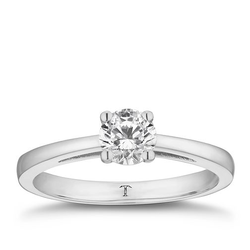 Tolkowsky platinum 2/3ct HI-SI2 diamond ring - Product number 8699771