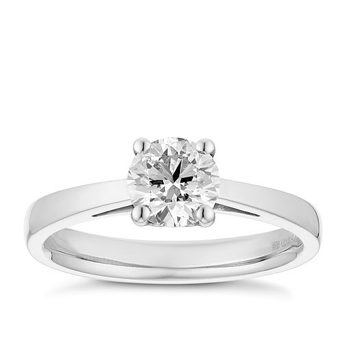 Tolkowsky platinum 3/4ct HI-SI2 diamond ring - Product number 8700028