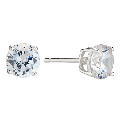 Silver cubic zirconia stud earrings - Product number 8717206