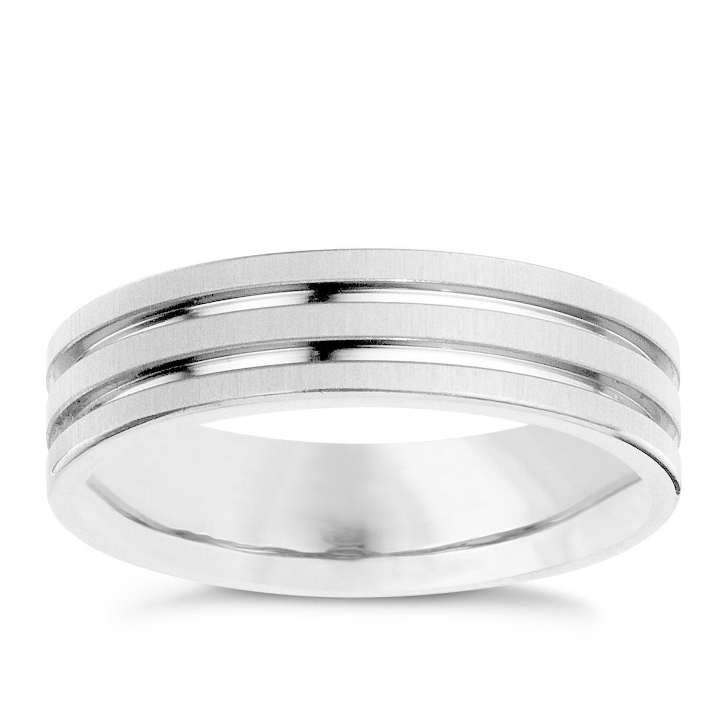 Titanium Matt & Polished Groove Ring - Product number 8718547