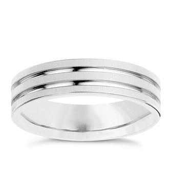 9c17435866b Titanium Matt   Polished Groove Ring - Product number 8718547