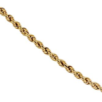 "9ct Yellow Gold 20"" Rope Necklace - Product number 8735174"