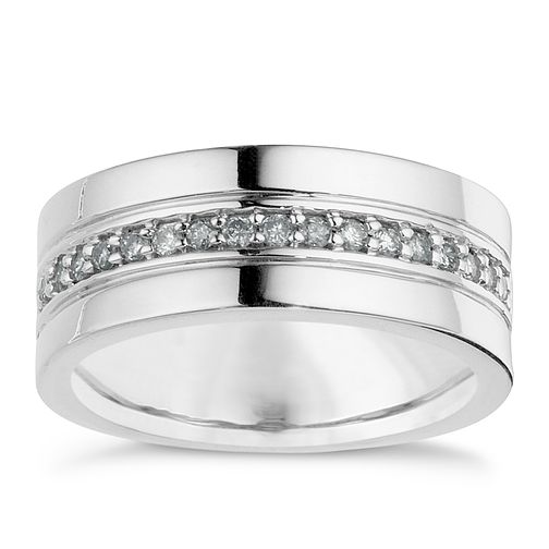 Silver Diamond Channel Set Ring - Product number 8783225