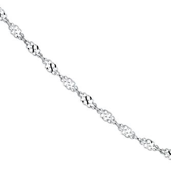 "9ct white gold sparkle twist chain 17.75"" - Product number 8784930"