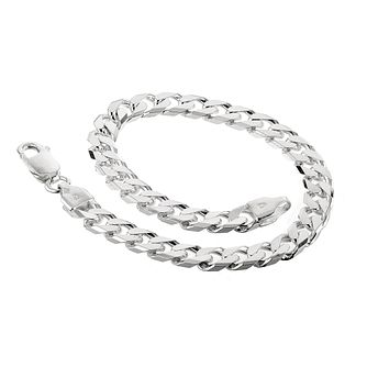 Sterling Silver 8 Inch Curb Chain Bracelet - Product number 8787484