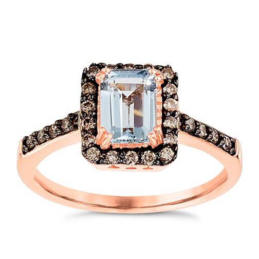 Le Vian 14ct Strawberry Gold Aquamarine Ring - Product number 8788294