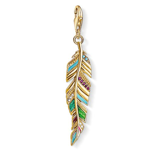 Thomas Sabo Ladies' Yellow Gold Plated Feather Charm - Product number 8791120
