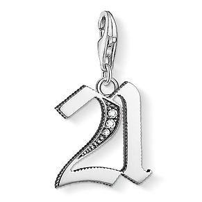 Thomas Sabo Ladies' Silver Stone Set 21 Charm - Product number 8793689