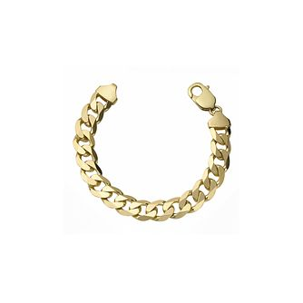 9ct Yellow Gold 8.75 inches Solid Curb Bracelet - Product number 8808678