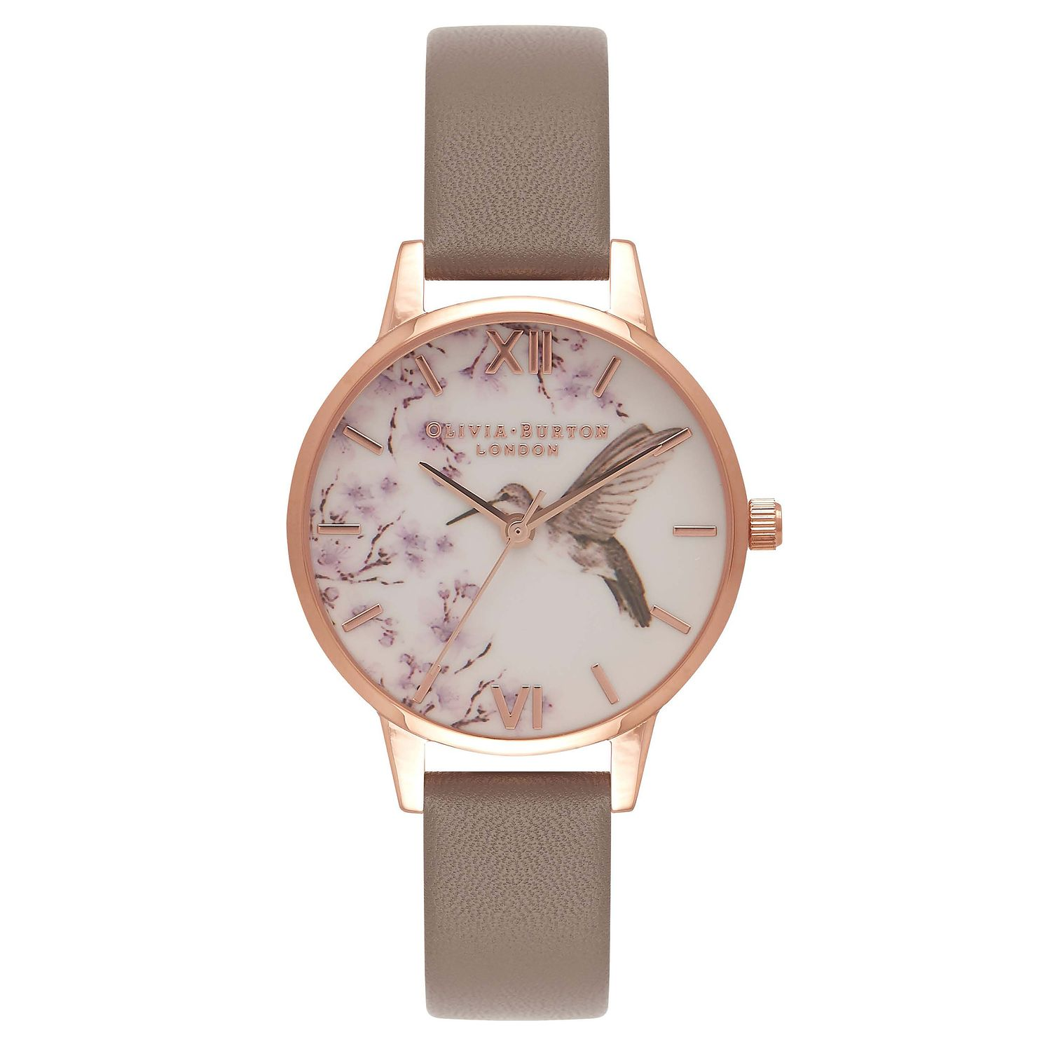 Olivia Burton Painterly Prints Rose Gold Metal Plated Watch - Product number 8817014