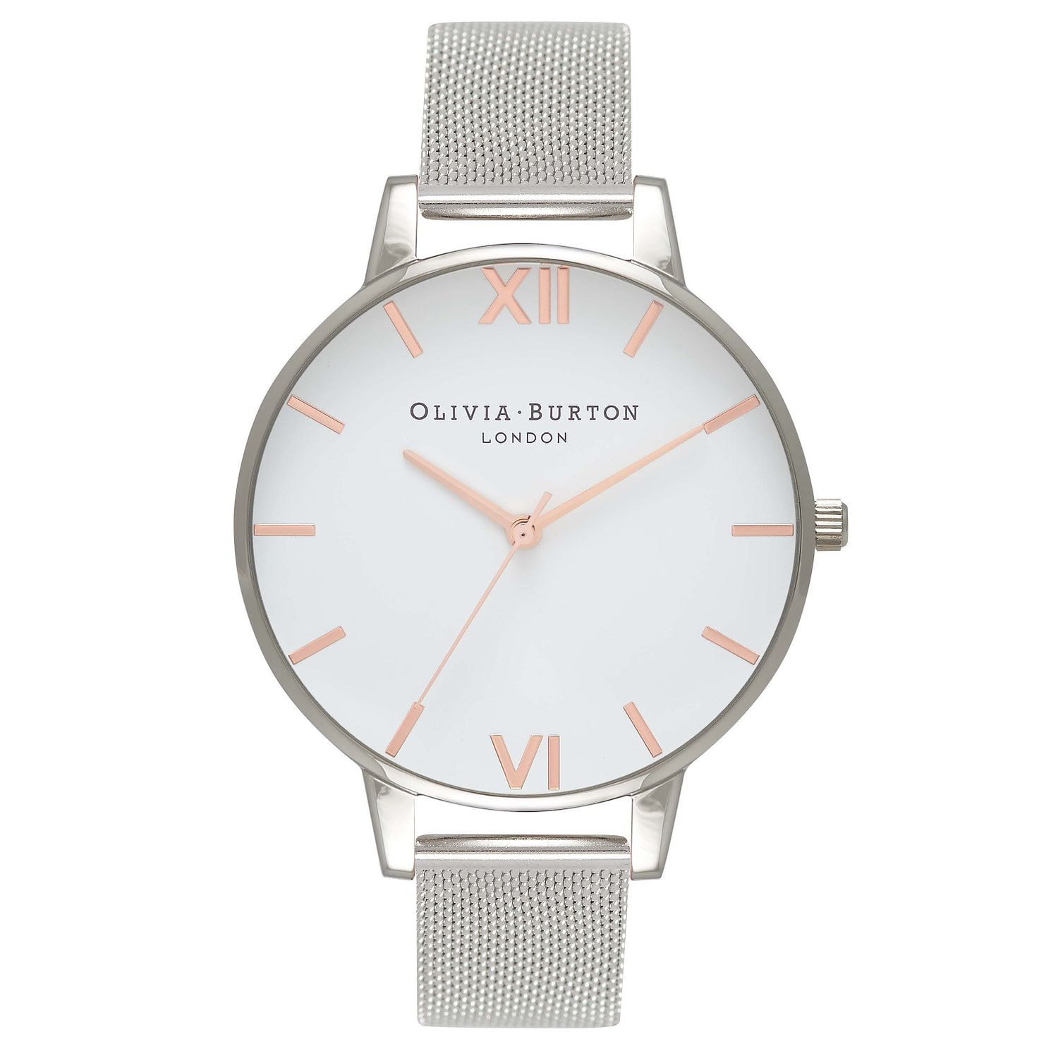 Olivia Burton Big Dial Silver Metal Plated Mesh Watch - Product number 8817057