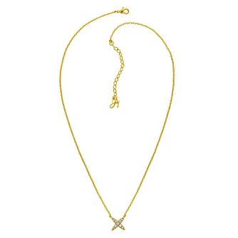 Adore Ladies' 4 Point Yellow Gold Plated Star Necklace - Product number 8817138