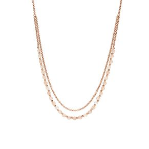 Fossil Ladies' Rose Gold Tone Beaded Double Necklace - Product number 8817243