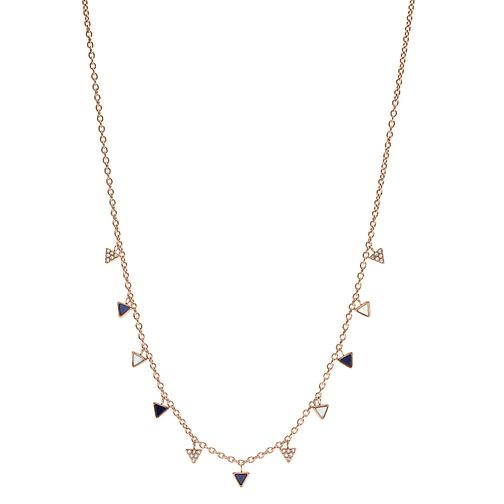 Fossil Ladies' Rose Gold Tone Multi Triangle Necklace - Product number 8817251