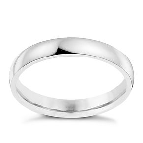 Palladium 950 3mm extra heavy court ring - Product number 8835047