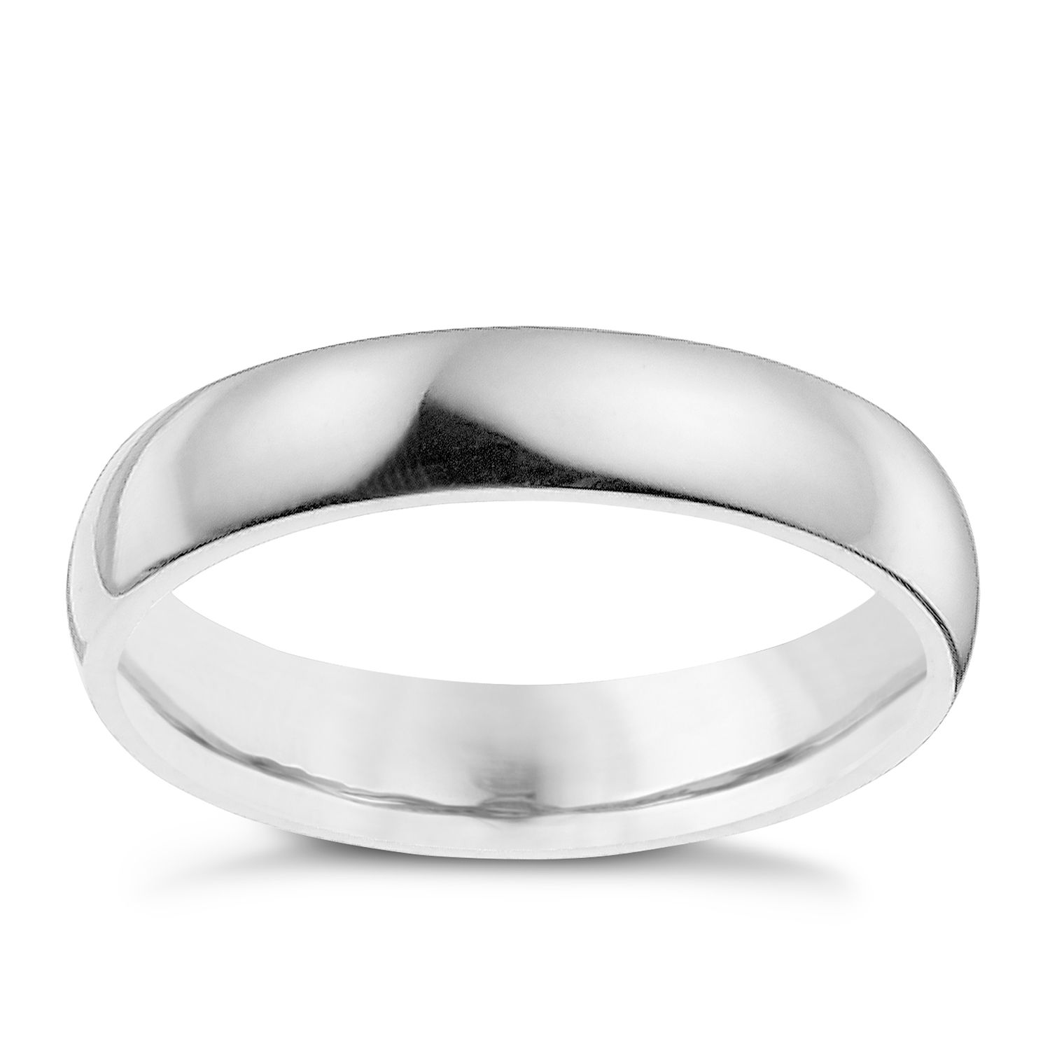 Palladium 950 4mm Extra Heavyweight Court Ring - Product number 8835292