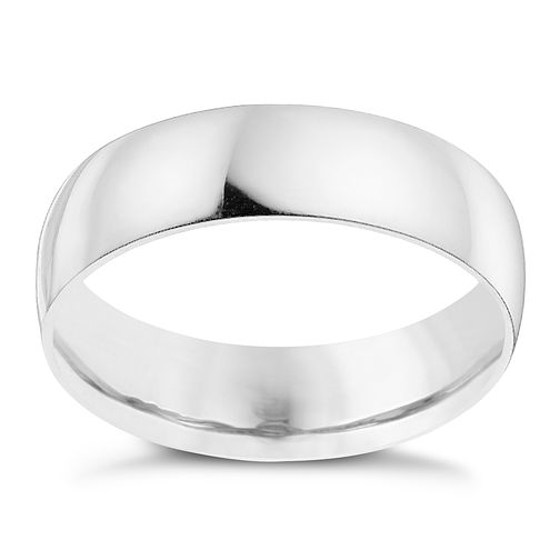Palladium 950 6mm extra heavyweight court ring - Product number 8835772
